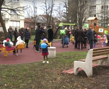 A playground opened in Borik settlement:  a donation for a nicer childhood (VIDEO)