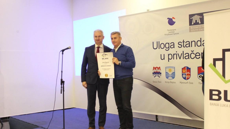 Priznanje Aragosti za najboljeg investitora u građevinarstvu